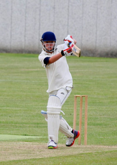Oliver James batting for the second team on 1/8/15.