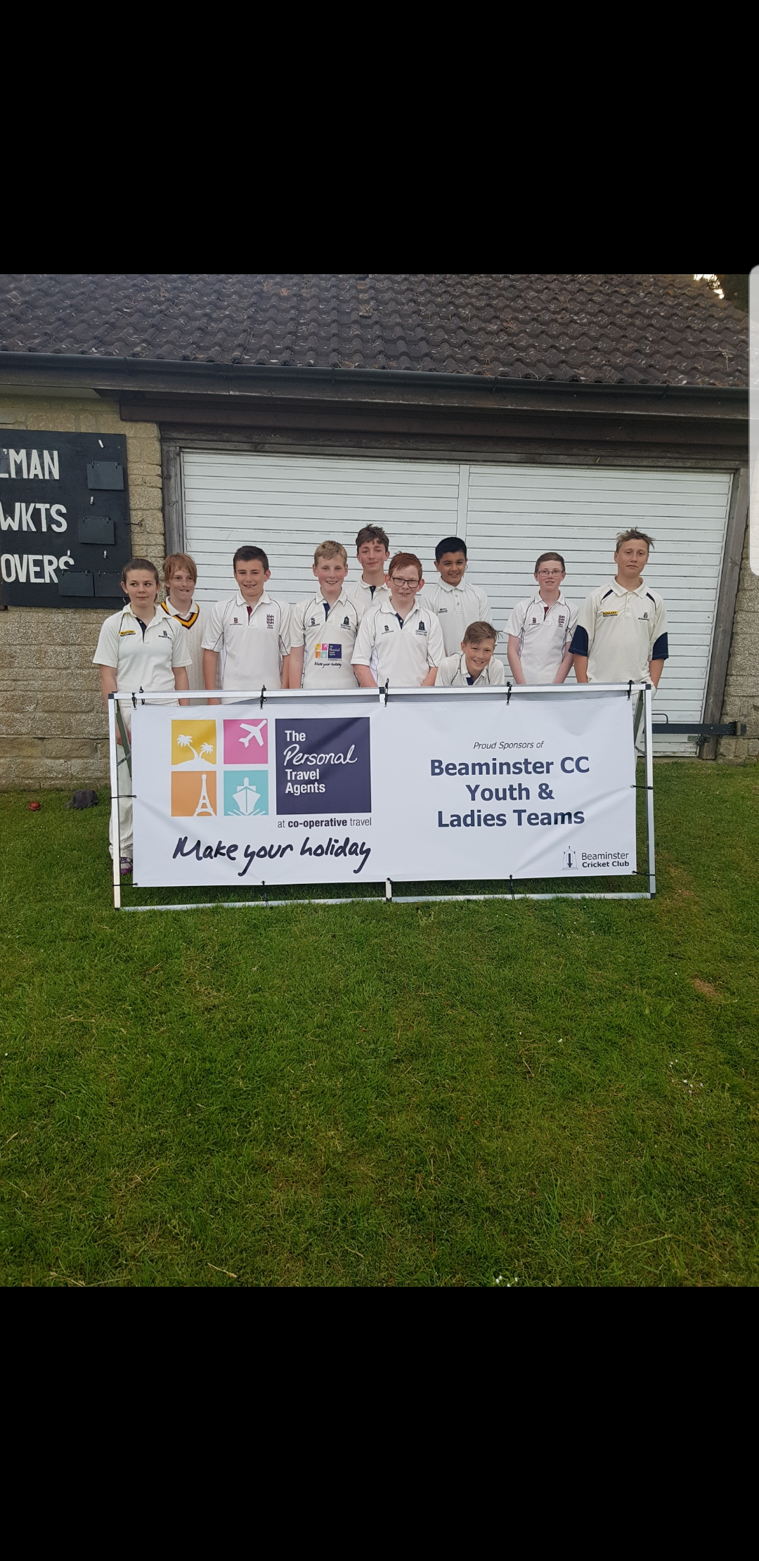 U13s players that won the West Dorset Cup - 17/05/18