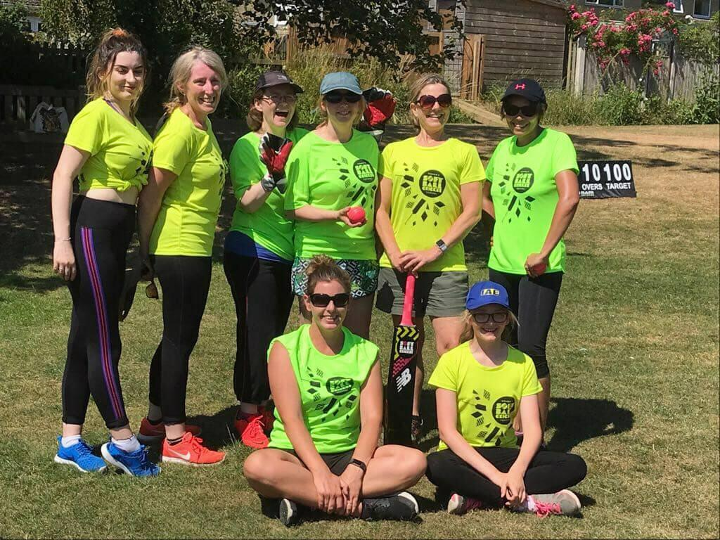 BCC Ladies team that played Chard on 08/06/2018