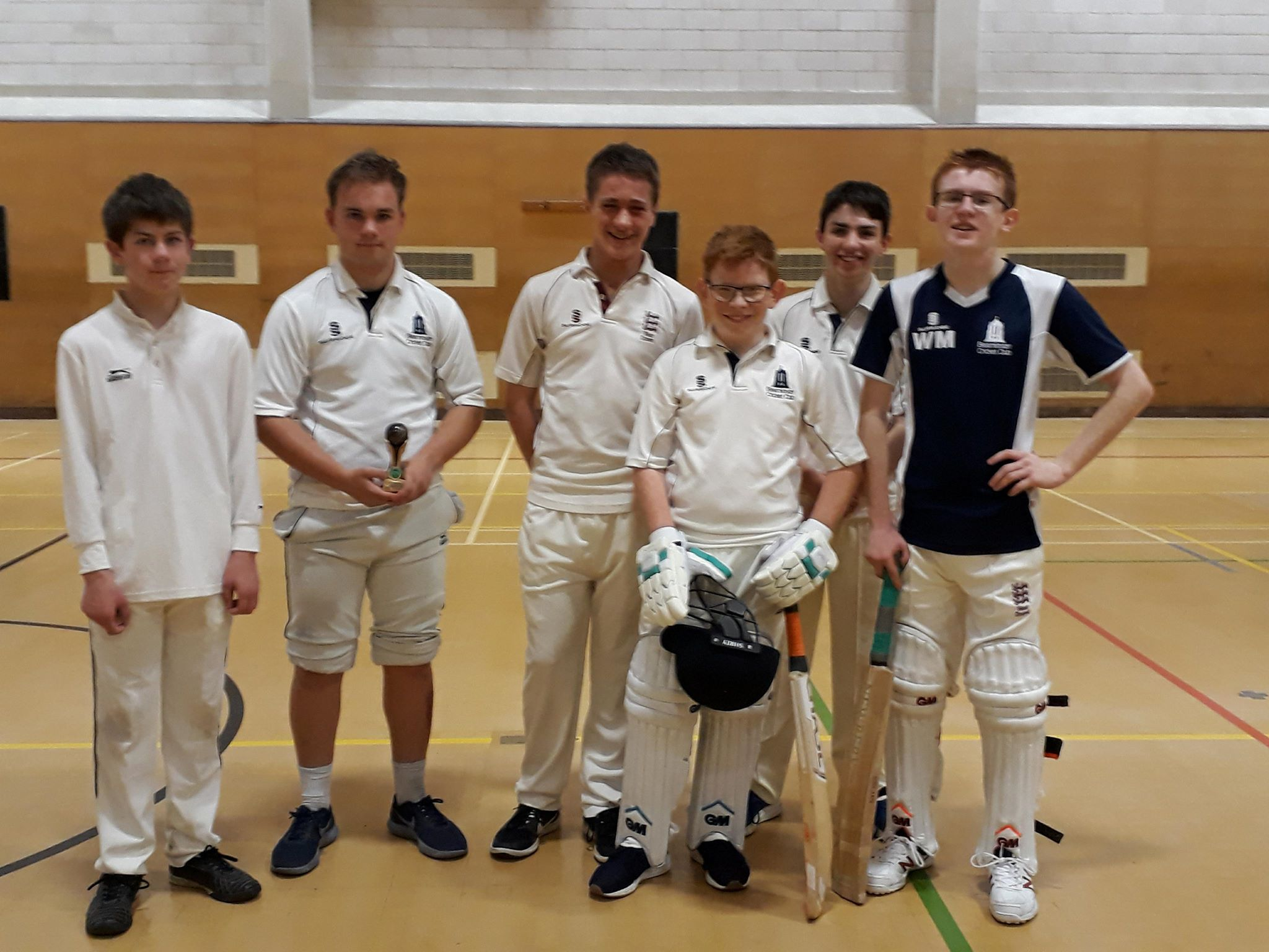 U16s players at the indoor final- 21/04/18