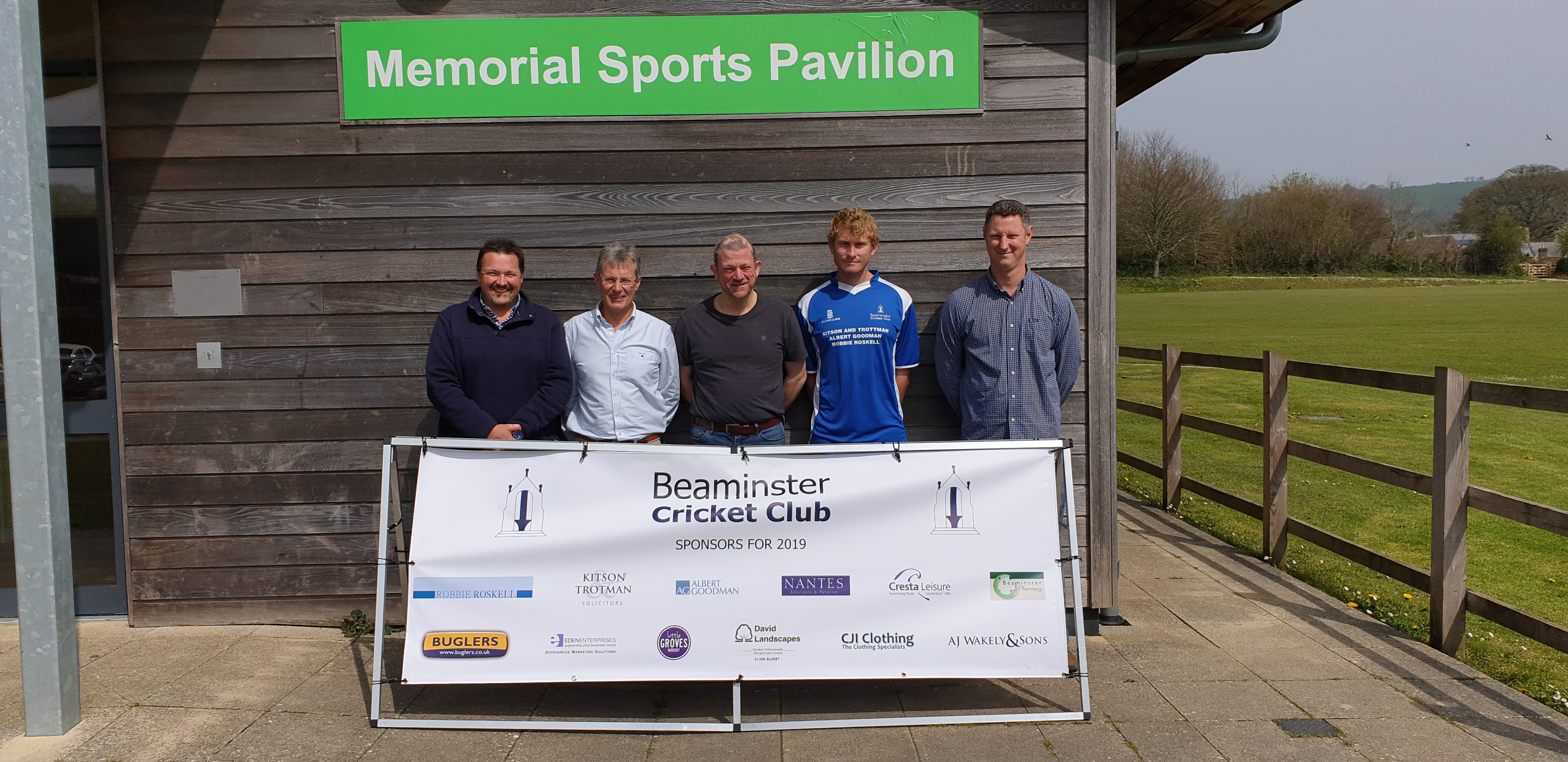 BCC Player Sponsorship Photograph on 18/04/2019