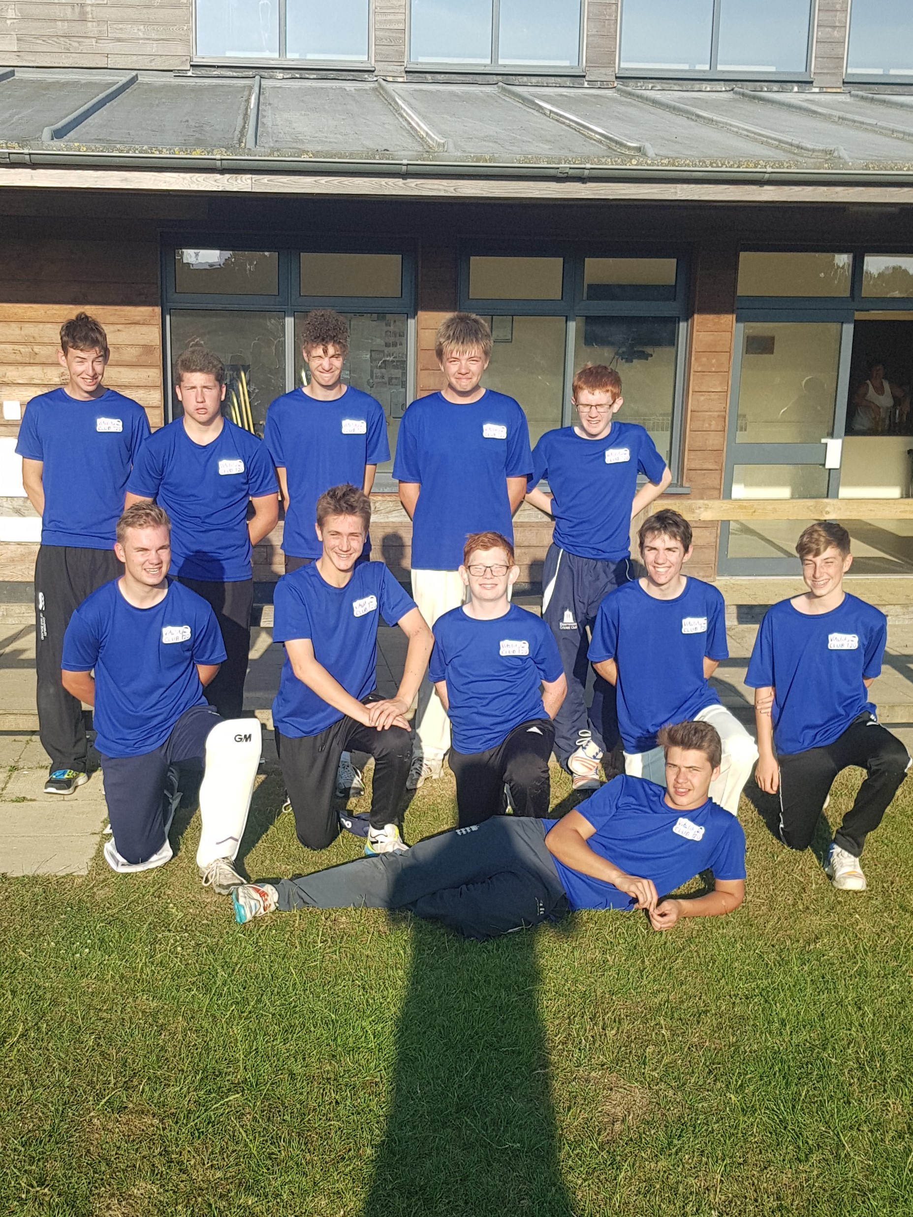 U19s team that played in the Twenty20 tournament at Beaminster on 22/07/18
