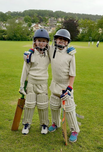 BCC U11s batting duo - Lily and Minty