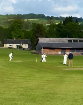 An U11s game at the memorial ground in Beaminster
